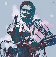 Johnny Cash  - Stylised Etching Pop Art Poster