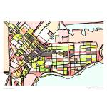 """South Boston Pink"" by carlandcartography"