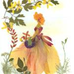 """English Belle near YELLOW BLOSSOMS"" by EcoArt"