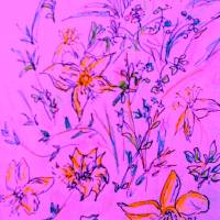 Flower Sketch #6 Art Prints & Posters by Dorothy McGee