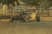 Rat Rod Pickup Sketch