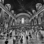 """Grand Central Terminal in Black and White"" by New-Yorkled"