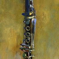 Clarinet by Hall Groat II, Commissioned Paintings Art Prints & Posters by Hall Groat II