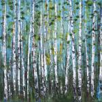 """Blue Birch Woods"" by DreamGallery"