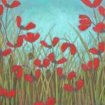 """Red Poppy Field"" by DreamGallery"