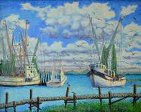Arrival of the Lady Eva on Shem Creek - 16x20