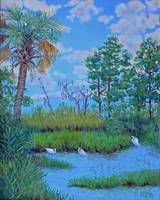 The Egrets' Secret Place (by Edisto) - 20x16
