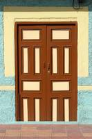Brown Door with Beige Trim
