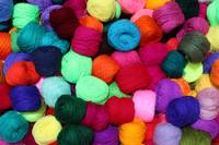 Colorful Skeins of Wool