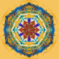 Golden Abstract Mandala