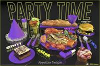 Party Time Neon Purple - Appetizer Designs