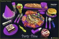 Party Time  Lavender - Appetizer Designs