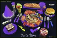 Party Time  Purple - Appetizer Designs