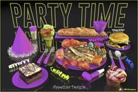 Party Time Neon Lavender - Appetizer Designs