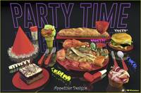 Party Time Neon Red - Appetizer Designs