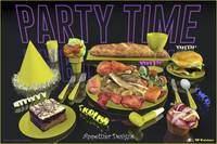 Party Time Neon Yellow - Appetizer Designs