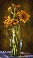 Sunflowers and Vase