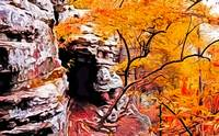 Autumn Huntsville Cave in Photo Paint