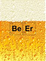 Beer Poster - Elements from the Periodic Table