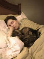 Marie Sleeping with Kitty