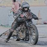 """""""Drag Bike with Rider"""" by FatKatPhotography"""