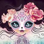 """""""Camila Huesitos Sugar Skull"""" by sandygrafik_arts"""
