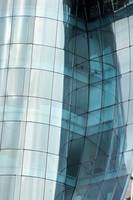Reflections in a Curved Glass Building