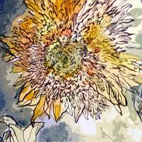 Sunflower Prickly Face Decorative Art