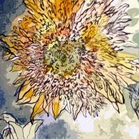 Sunflower Prickly Face Decorative Art Art Prints & Posters by Ginette Callaway