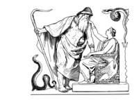 Odin and Frigg by Lorenz Frolich