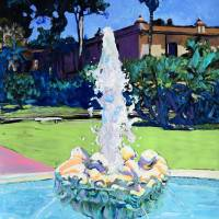 Laughing Fountain Balboa Park San Diego Art Prints & Posters by RD Riccoboni