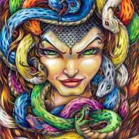 Medusa Art Prints & Posters by Bryan Collins