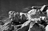 Rocks at Lake James, North Carolina