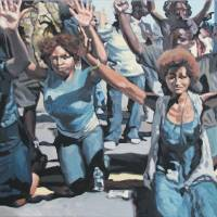 Faceoff in Ferguson Art Prints & Posters by Kenneth Calvert