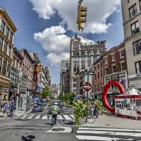 Manhattan Street Scene Art Art Prints & Posters by New Yorkled