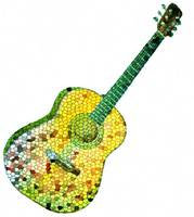 guitar stained glass
