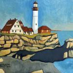 """Maine Lighthouse"" by Holewinski"