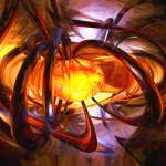 """""""Birth of a Sun Painted Abstract"""" by AlexButler"""
