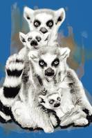 Wild animal family pop art -  stylised poster