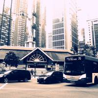 Central Singapore - Street Scene monochrome Art Prints & Posters by Blue Sentral Photography