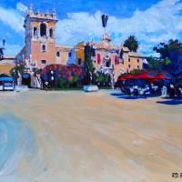 House of Hospitality Balboa Park San Diego Art Prints & Posters by RD Riccoboni