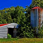 """Abandoned Silo and Shed"" by travel"