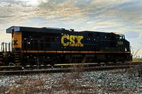 CSX Engine Grade Crossing Silhouette
