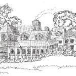 """Sprawling Farmhouse(c)2014"" by LaurenCurtis"