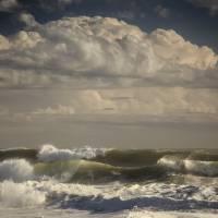 Huge Waves Crashing On Nauset Beach Art Prints & Posters by Dapixara Art