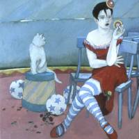 Stray Cat Art Prints & Posters by Joan Barber