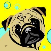 Pug Portrait Art Prints & Posters by Pixel Paint Studio