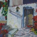 """""""Mediterranean Scene"""" by KateFarrantArtist"""