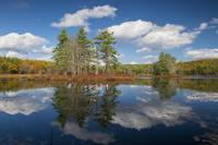 Harvard Pond in Autumn, Massachusetts
