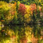 """Colorful Foliage Reflection In A Tranquil Lake"" by George_Oze"